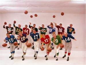 National Football Quarterbacks by Ralph Morse