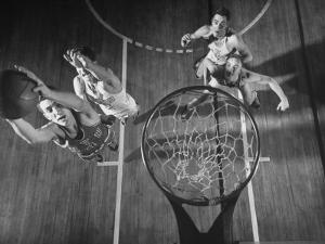 Nyu Basketball Team Playing in Game by Ralph Morse
