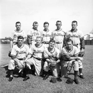 Philadelphia Phillies Baseball Team by Ralph Morse