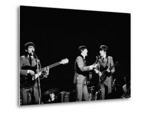 Pop Music Group the Beatles in Concert George Harrison, Paul McCartney, John Lennon by Ralph Morse