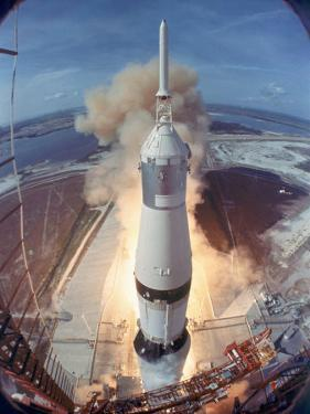 Saturn V Rocket Lifting the Apollo 11 Astronauts Towards Their Manned Mission to the Moon by Ralph Morse