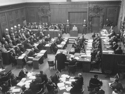 Scene in the Courtroom During the 3rd Day Session of the Nuremberg Trial by Ralph Morse