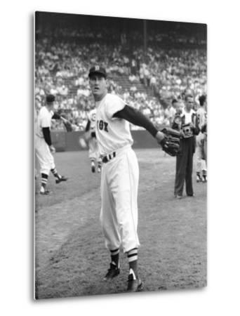 Ted Williams Throwing Baseball by Ralph Morse
