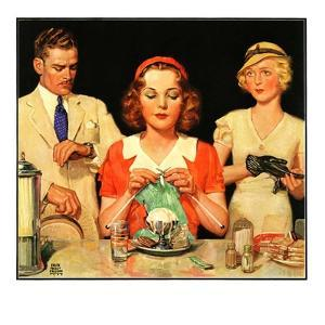 """""""Lunch Counter Wait,""""August 1, 1934 by Ralph P. Coleman"""