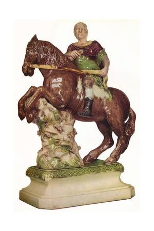 A Ralph Wood equestrian figure of King William III, in the guise of a Roman Emperor, 1785, (1923)