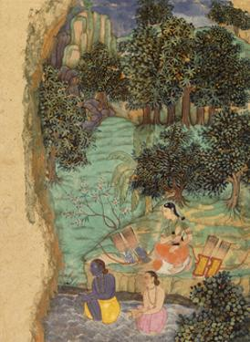 Rama and Lakshmana Offering Water to their Dead Father on the Banks of the Mandakini River, C.1595