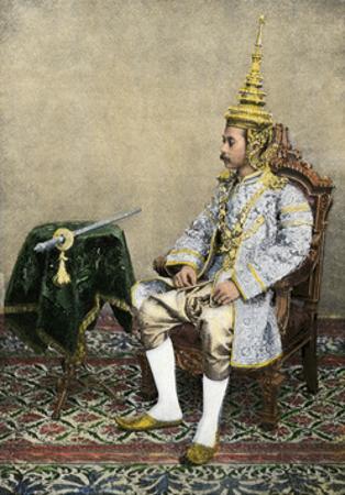 Rama V (Chulalongkorn), King of Siam, in His Royal Attire, Circa 1900