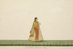 An Indian Macaroni Lady, 1800-10 by Ramdass