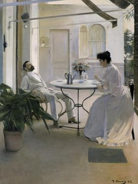 Interior in the Open Air by Ramon Casas Carbo