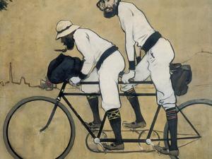 Ramon Casas and Pere Romeu on a Tandem by Ramon Casas Carbo