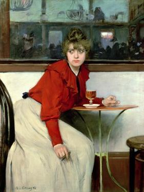 Chica in a Bar, 1892 by Ramon Casas i Carbo