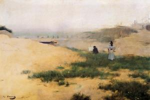 Landscape with Figures by Ramon Casas i Carbo