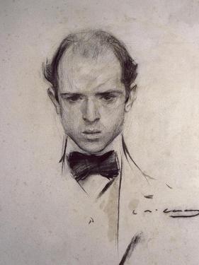 Portrait of Pau Casals by Ramon Casas i Carbo