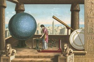 Ptolemy in the Observatory in Alexandria by Ramon Puiggari