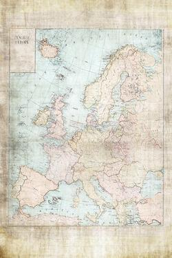 Central Europe Map WWII by Ramona Murdock