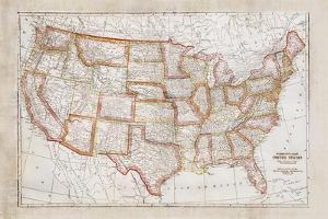 Map of USA by Ramona Murdock