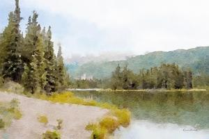 Mountain Lakeshore No. 3 by Ramona Murdock