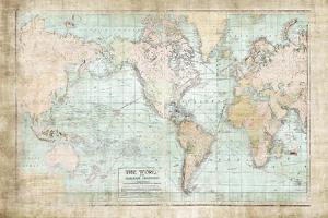 World Map Vintage 1913 by Ramona Murdock