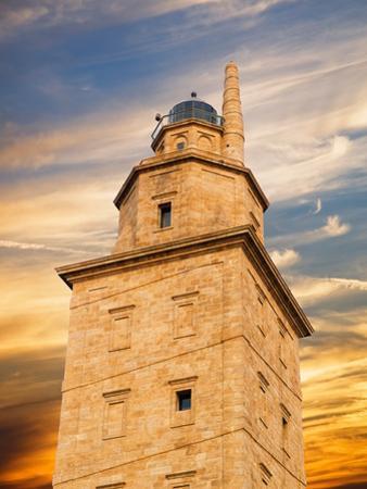 Hercules Tower Detail in La Coruna, Spain. by ramonespelt