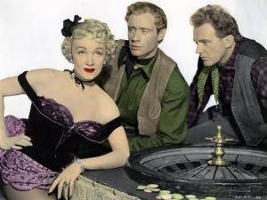 RANCHO NOTORIOUS, 1952 directed by FRITZ LANG Marlene Dietrich, Mel Ferrer and Arthur Kennedy (phot