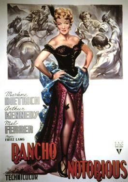 Rancho Notorious, Marlene Dietrich, 1952