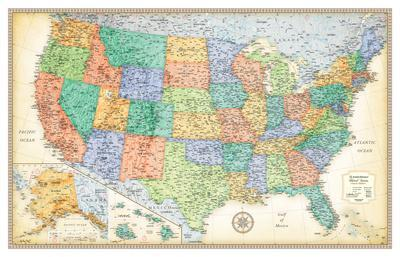 Maps Of The United States Posters At AllPosterscom - Map of the states of the united states
