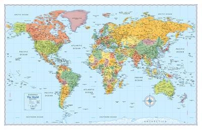Rand Mcnally Laminated Signature World Map