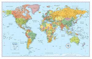 Rand Mcnally Laminated Signature World Map