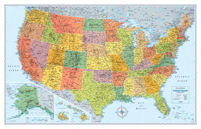 Maps Of The United States Posters At AllPosterscom - 8x11 us state map