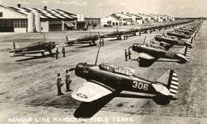 Randolph Field, Texas, with Fighter Planes