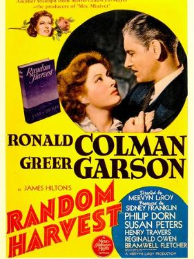 Random Harvest, Greer Garson and Ronald Colman on window card, 1942