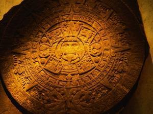 Aztec Carved Calendar Stone by Randy Faris