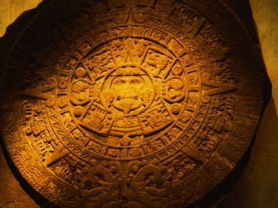 Aztec Carved Calendar Stone by Randy Faris