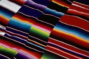Brightly Striped Cloth by Randy Faris