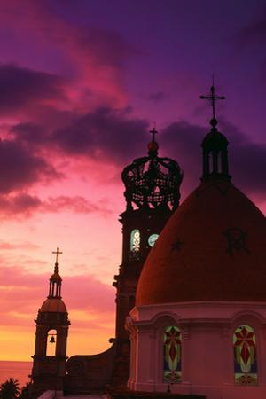 Church of Guadalupe at Sunset by Randy Faris