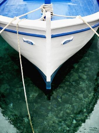 Fishing Boat at Mooring by Randy Faris