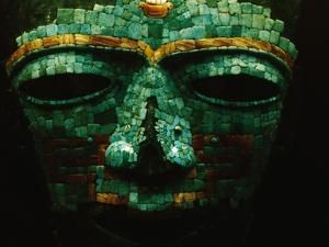 Teotihuacan Mosaic Sculpture Mask by Randy Faris