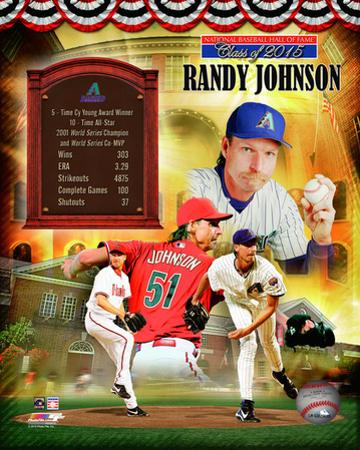Randy Johnson MLB Hall of Fame Legends Composite