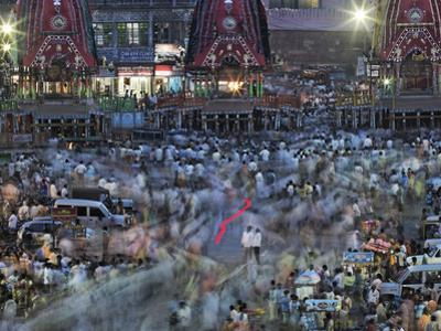 A Ratha Yatra Religious Festival in Temple Town of Puri by Randy Olson