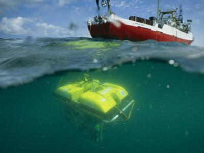 An Unmanned Submersible Conducts Research in the Black Sea by Randy Olson