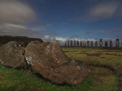 Restored Moai Stand Watch at Ahu Tongariki by Randy Olson
