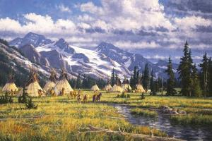 Nez Perce Summer Camp by Randy Van Beek