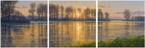 Reflections Triptych by Randy Van Beek