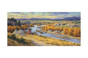 Snake River Encampment by Randy Van Beek