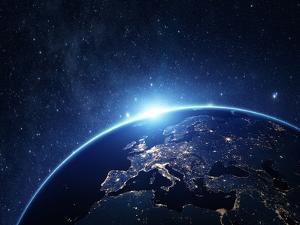 Planet Earth from the Space at Night by Rangizzz