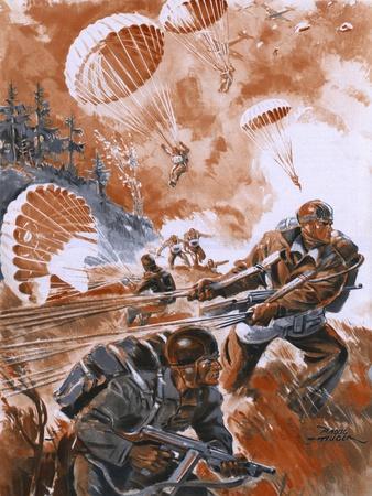 Paratroops Landing 1944