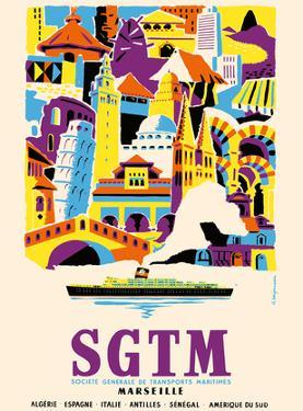Algeria, Spain, Italy, Antilles, Senegal & South America - SGTM Marseille by Raoul Berjonneau