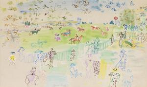 Le Champ de Courses a Ascot by Raoul Dufy