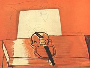 Le Violin Rouge by Raoul Dufy