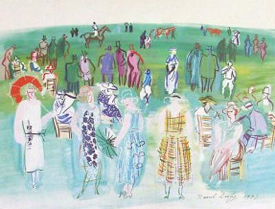 Mannequins de Poiret aux Cours by Raoul Dufy